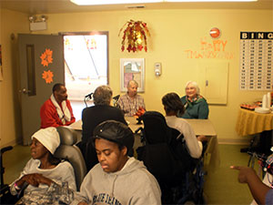 DARE board members join residents for lunch